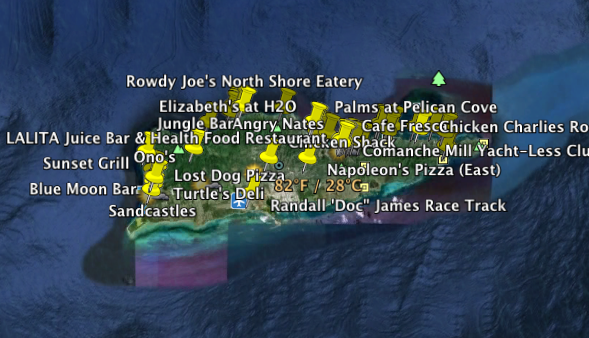All GPS Dining Points on St. Croix